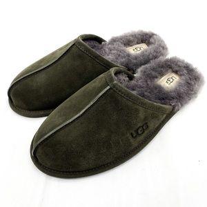 UGG Men's Scuff Slide Slippers Black Olive Sz 10
